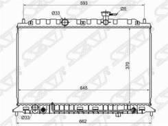 Радиатор трубчатый KIA RIO II 05-11 1.4/1.6L (253101G000 / SG-KI0004-05 / SAT)