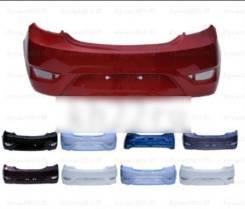 Бампер задний в цвет кузова Hyundai Solaris [хетчбэк] (2011-2014)