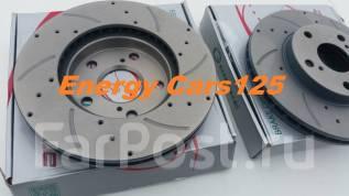 Комплект тормозных перфорированных дисков перед 2шт G-Brake