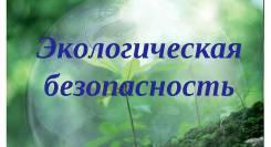 Экологическая безопасность