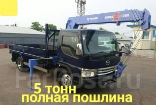 Mazda Titan. 4,6л., борт 5 тонн + кран, 4 600куб. см., 5 000кг., 4x2