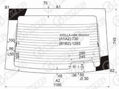 Стекло заднее FORD Aspire, FORD Aspire 94-98 3D, FORD Aspire 94-98 5D, KIA Avella, KIA Avella 96-00 3D, KIA Avella 96-00 5D, Mitsubishi Aspire Avella...