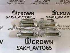 Комплект хромированных ручек дверей Toyota Crown JZS 141