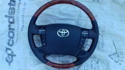 Руль Toyota кожа, кость. мульти руль под дерево