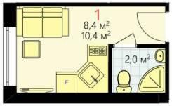 1-комнатная, улица Сущёвский Вал 3/5. Марьина роща, агентство, 10,4кв.м.