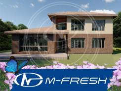 M-fresh Formenterra (Строительный проект коттеджа с угловой террасой! ). 200-300 кв. м., 2 этажа, 5 комнат, бетон
