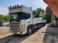 Scania. Бортовой грузовик Skania с КМУ и прицепом, 28 000кг.