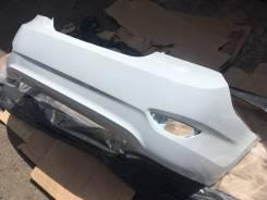Новый задний бампер (белый / PGU) Hyundai Solaris Седан 11-14г