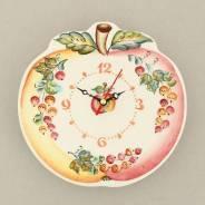 Часы керамические. Яблочко. Ручная роспись