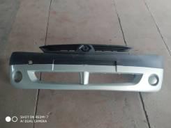 Бампер Renault Logan 05-10 г. в. новый, серебристо-голубой