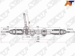 Рейка рулевая Hyundai Elantra (HD) 06-11, Hyundai Elantra 06-, Hyundai I30 07-12, KIA CEED 06-12 SAT ST-56500-1H200