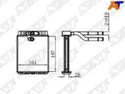 Радиатор отопителя салона Hyundai County, Hyundai HD72/HD78 SAT ST-HY72-395-0
