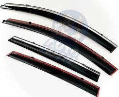 Дефлекторы окон (ветровики) оригинальные Kia Optima 2015- н. в хром