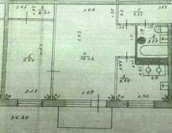 2-комнатная, Советская 61. Центр, частное лицо, 46,5кв.м. План квартиры