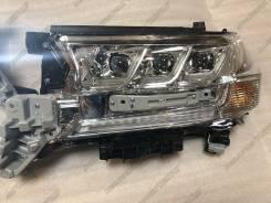 Фары Toyota Land cruiser 200 2015-2021 Lexus Style белые