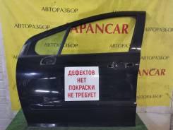 Дверь левая перед, чёрный(Perla Nera) перед Peugeot 308 2007-11г