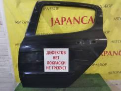 Дверь левая задняя , чёрный(Perla Nera), Peugeot 308 2007-11г