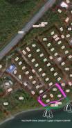 Участок с выходом на закрытый пляж. 8 200кв.м., собственность, электричество. План (чертёж, схема) участка