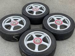 Японские редкие спорт-диски Advan Racing TC R16 5*100+Лето 205/55/16!
