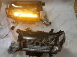 Фары Toyota Land cruiser 200 2015-2021 Lexus Style Черные