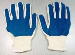 Перчатки с синей ладонью 1 пара