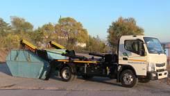 Mitsubishi Fuso Canter. Бункеровоз (мусоровоз рогатка) 8 куб. м на шасси Fuso Canter, 3 000куб. см. Под заказ