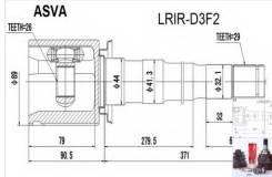 Шрус внутренний правый LRIRD3F2
