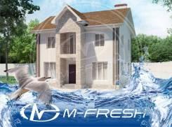 M-fresh Ambassador Sky (Готовый строительный проект дома с балконом! ). 100-200 кв. м., 2 этажа, 5 комнат, бетон