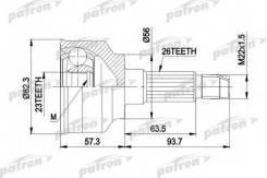 Шрус наружн к-кт Mazda: 626 АКПП 1.6-1.8 09/87-92, 323 1.8 08/89-04/92, KIA: Sephia 1.8 16v 01/95-08/96 Patron PCV1145