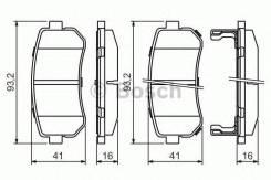 Комплект тормозных колодок, дисковый тормоз Bosch 0986494140