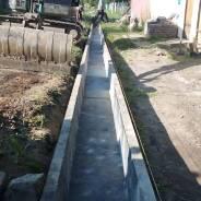 Установка септиков, подведение воды, строительные работы.