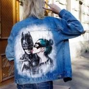 Джинсовые куртки. Ручная авторская роспись одежды от художников!