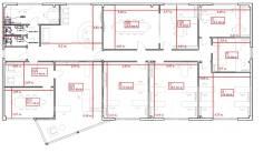 Офисные помещения в новом здании на Змеинке во Владивостоке. 300,0кв.м., улица Поселковая 3-я 2а, р-н Чуркин. План помещения