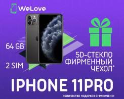 Apple iPhone 11 Pro. Новый, 64 Гб, Серый, 3G, 4G LTE, Dual-SIM, NFC