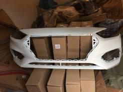 Бампер передний Hyundai Solaris 2017 окрашенный Белый