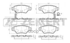 Колодки тормозные дисковые задние Chevrolet Corsa 94- Opel Astra G 98- Zafira A 99- Zekkert [BS1387] BS1387