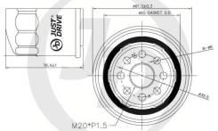 Фильтр масляный JD JFM0007 Subaru/Ford/Mitsubishi