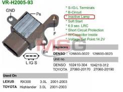 Регулятор генератора D E N S O original Japan 126600-0023