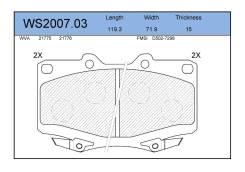 Колодки тормозные дисковые передние 04465-50040