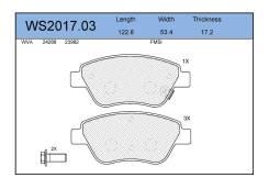 Колодки тормозные дисковые передние Jeenice WS201703