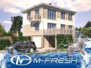 M-fresh The Seven (Проект коттеджа с цоколем, в котором 7 комнат! ). 300-400 кв. м., 3 этажа, 7 комнат, бетон