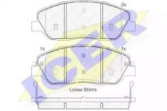 Колодки дисковые передние! Hyundai Santa Fe2.2CRDi/2.7, Kia Carnival 2.7 181828_ ICER [181828]