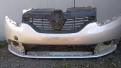 Рено Логан 2 передний бампер бу, серебр