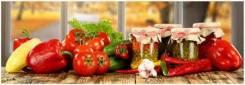 Кухонный фартук 695*2070*3мм Овощи на столе