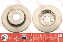Диск тормозной передний Mazda [B45A33251A] B45A33251A