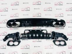 Диффузор + Black насадки C43 AMG стиль 2019+ Mercedes-Benz C-Class