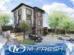 M-Fresh Chao-Kakao! (Проект дома с эркером для участка на склоне). 200-300 кв. м., 3 этажа, 5 комнат, бетон