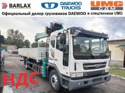 Daewoo Novus. Бортовой низкорамный грузовик с Манипулятором HKTC, 5 850куб. см., 7 000кг., 4x2
