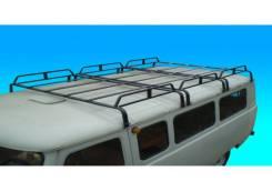 Багажник на крышу УАЗ-452 (3-х секционный, 12 опор, 790ммх1720мм) разборный, цвет черный [T03]