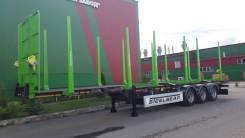 Steelbear. Лесовозный полуприцеп с горбатой рамой , 37 100кг. Под заказ